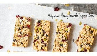 Polynesian-Honey Granola Square Bars